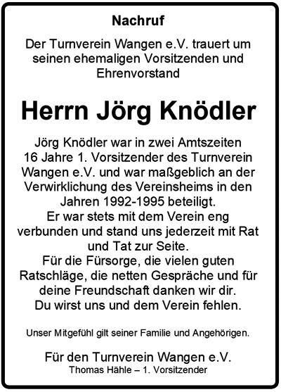 Nachruf Jörg Knödler